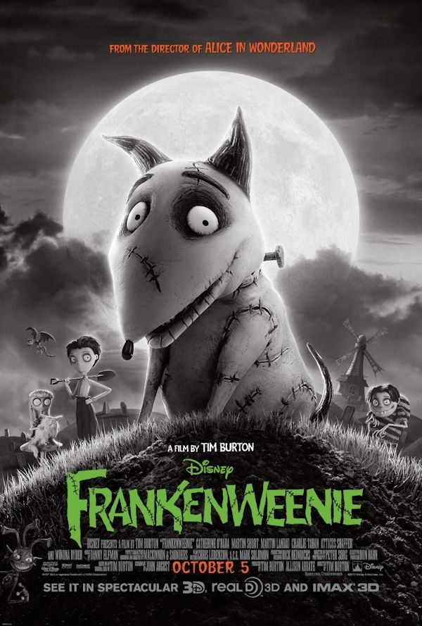 Disney's FRANKEWEENIE Poster Released - Directed by Tim Burton