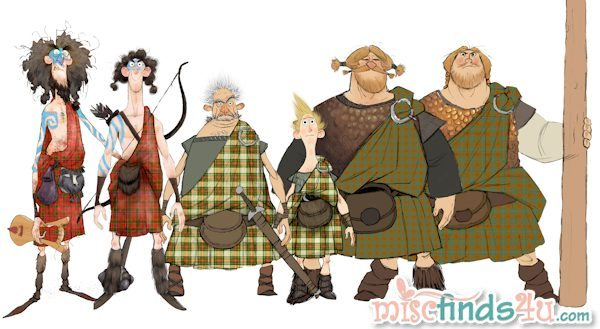LORDS and SONS Kilts Animation Art  - Disney Pixar's BRAVE