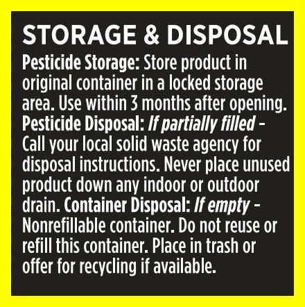 AMDRO® storage and disposal