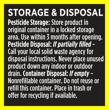 AMDRO® storage and disposal