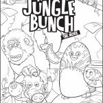 The Jungle Bunch Coloring Page - free download