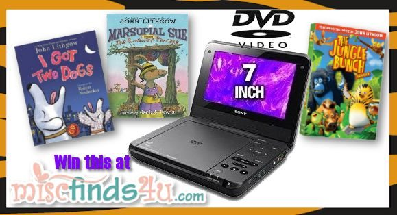 The Jungle Bunch: The Movie Giveaway - Portable DVD player, movie, and books
