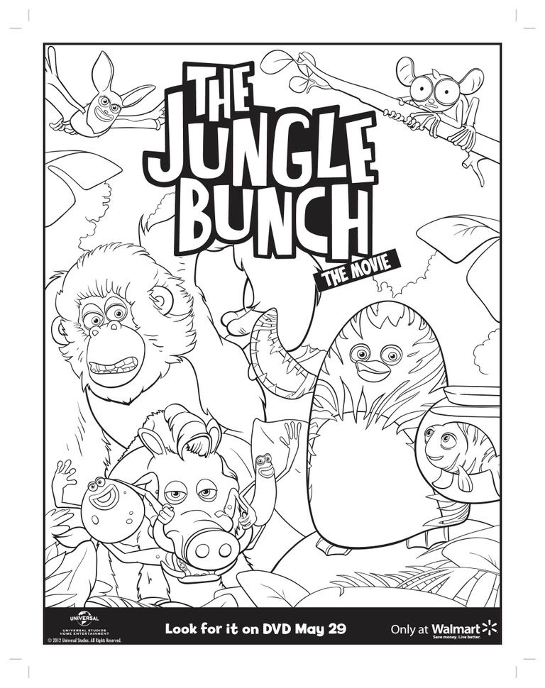jungle printable coloring pages - movies the jungle bunch with john lithgow on home video 5