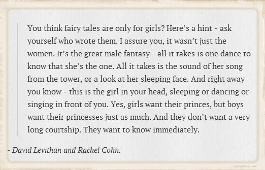 Quote: You Think Fairy Tales are Only For Girls?