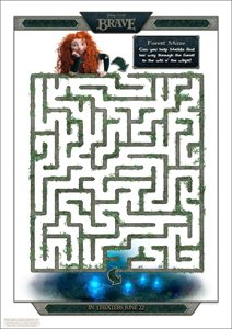 Disney's BRAVE movie - Wisp Maze
