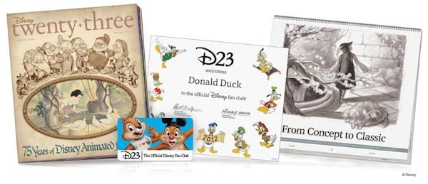 Disney's D23 Fan Club Membership Welcome Kit (Photo)
