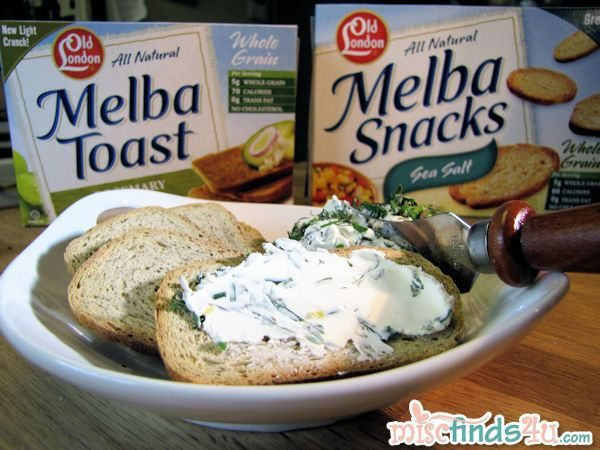Snacking with Old London Melba Toast
