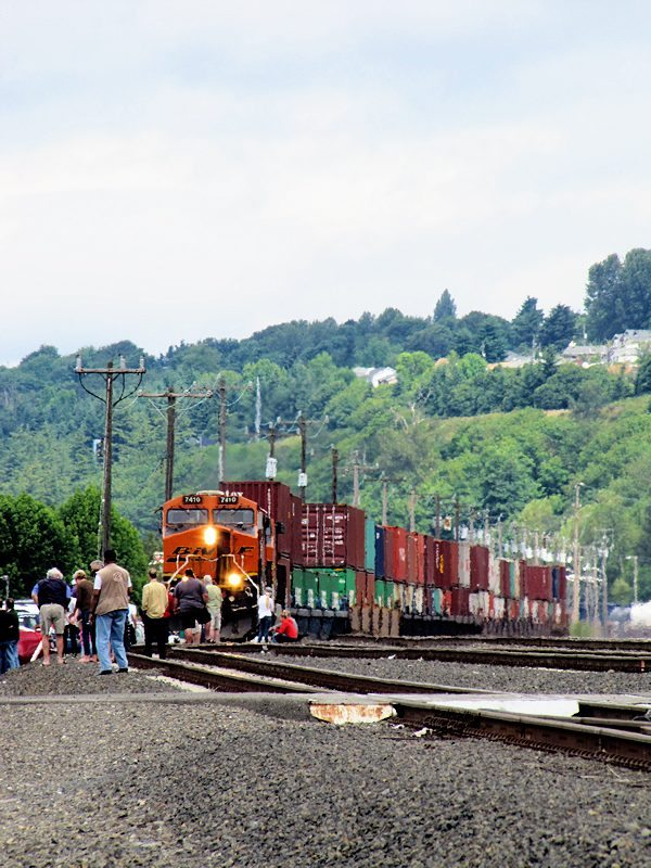 Burlington Northern Tracks near Boeing Field, Seattle, WA 6/30/12