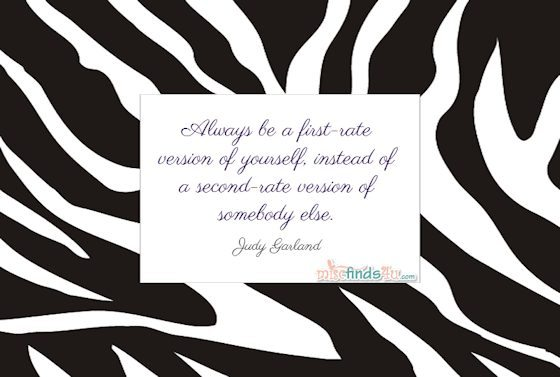 "Always be a first-rate version of yourself, instead of a second-rate version of somebody else"" - Judy Garland Quote"