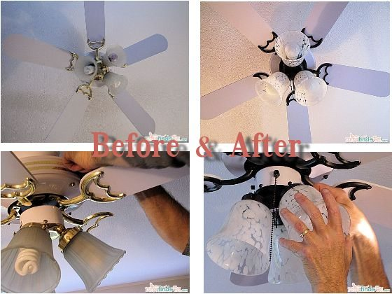 Before and After Ceiling Fan Makeover