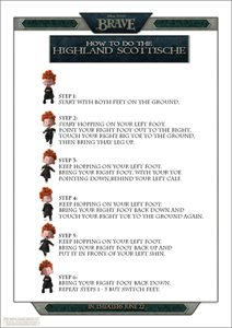 Scottish Highlands Dance Instructions Sheet