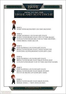 Scottish Highlands Dance Instructions Sheet