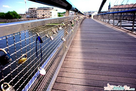 Bernatek Foot-bridge padlocks -Krakow,Poland