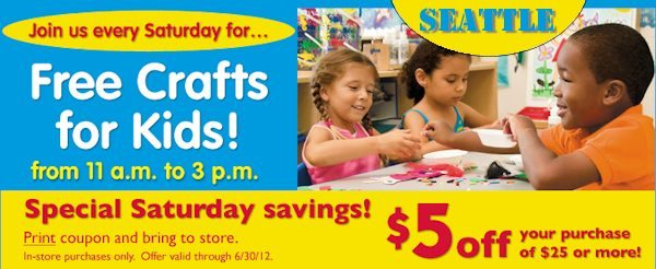 SEATTLE: Free Summer Crafts for Kids at Lakeshore Learning Store