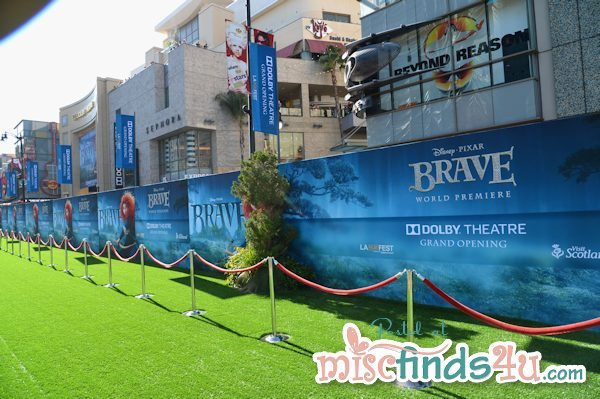 The green carpet before the world premiere of BRAVE