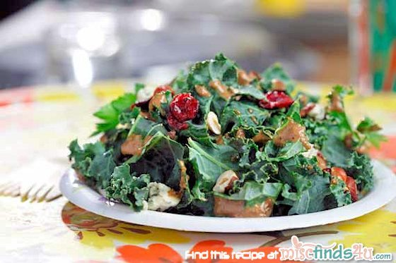 Kale Salad with Homemade Hazelnut-Balsamic Vinaigrette Recipe