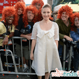 Kelly Macdonald at the world premiere of BRAVE with Merida wigged paparazzi