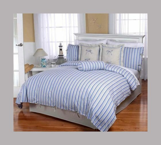 Beyond Bedding Cabana Beach Striped Bedding Set