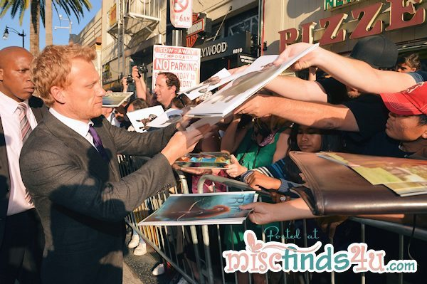 Kevin McKidd - voice of Lord MacGuffin BRAVE - signs for fans at the World Premiere of BRAVE in Hollywood, CA 6/19/12