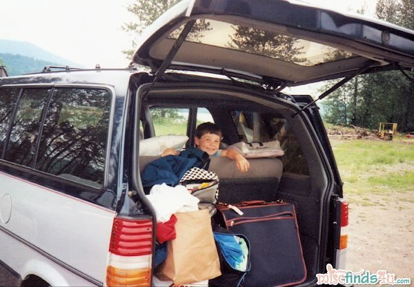 Packed and ready for a road trip - 1993
