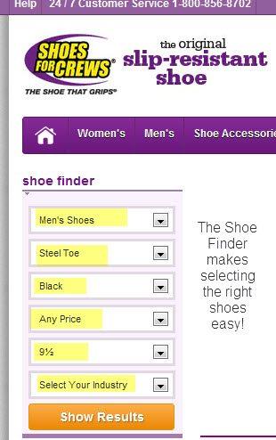Shoes for Crews Shoe Finder