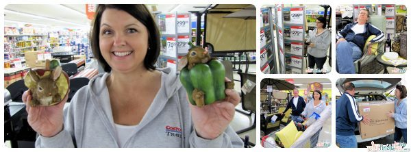 """#cbias First we go shopping. Judy fell in love with these little animals - not our taste but so """"mom."""""""