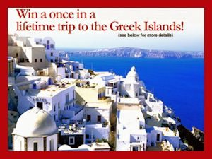 Win a once in a lifetime trip to the Greek Islands from Old London Foods