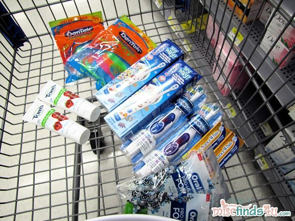 #cbias Filling up my cart with kids' dental products - it's been a long time since I shopped for them!