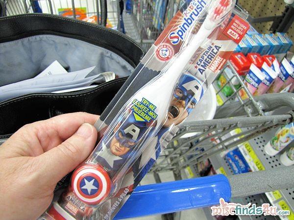 My favorite! An Avengers Arm & Hammer SpinBrush!