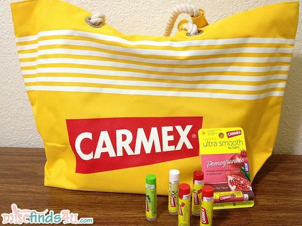 Win this Carmex Beach Bag and 6 Carmex Lip Balms!