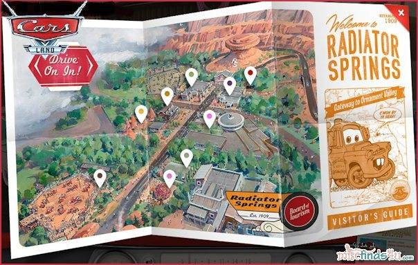 Disney CARS LAND Interactive Map