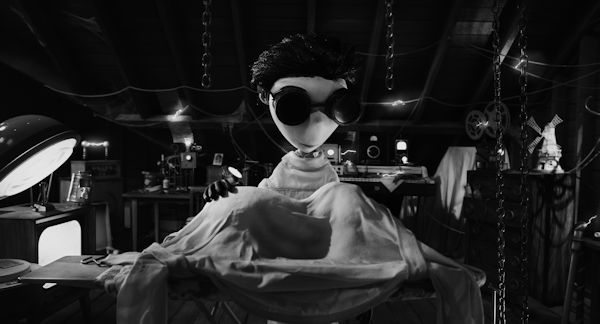 Victor in the laboratory - FRANKENWEENIE - (C) Disney - used with permission