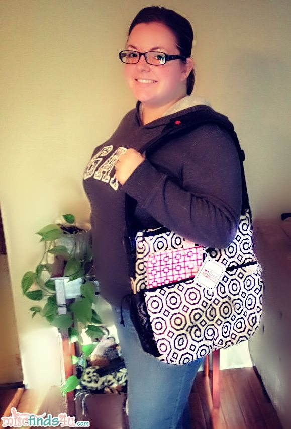 Me with the Jonathon Adler Diaper Bag - I love the size, style, and pattern!
