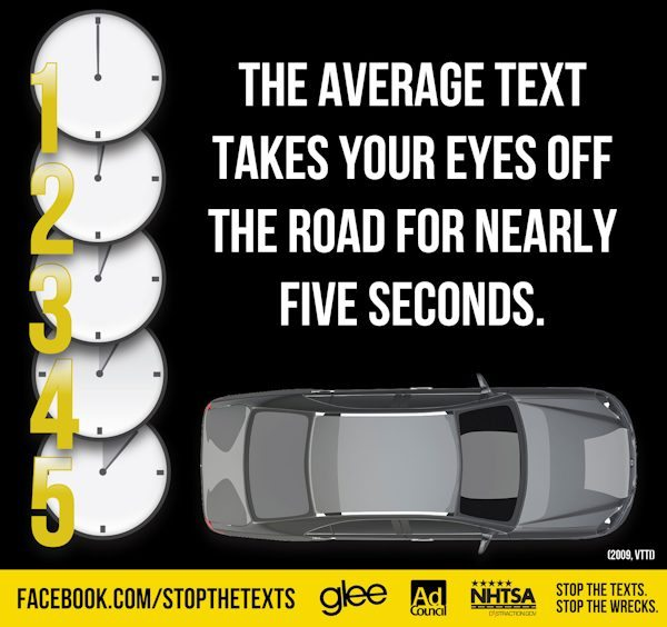 GLEE PSA: Texting While Driving – 5 Seconds That Could Change Your Life