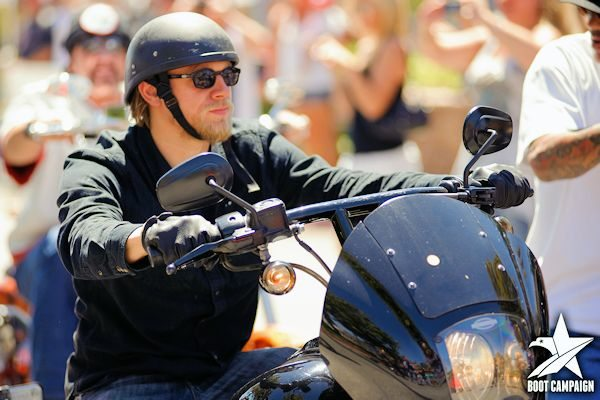 Sons of Anarchy Cast Member Charlie Hunnam participates in The Boot benefit (Jax Teller)