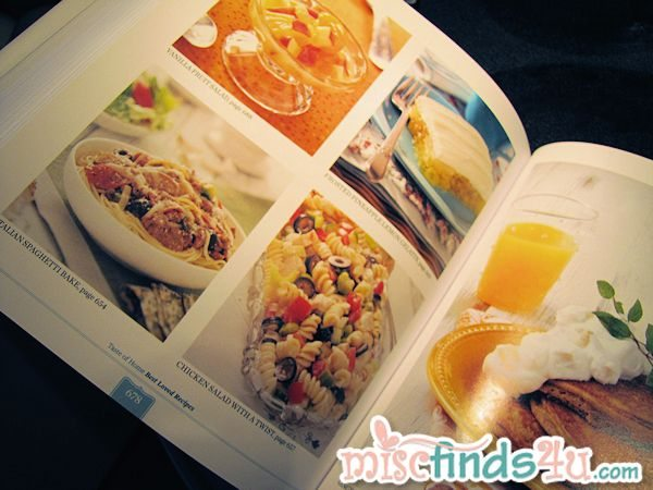 A representation of the 400 photos included in the Taste of Home Cookbook