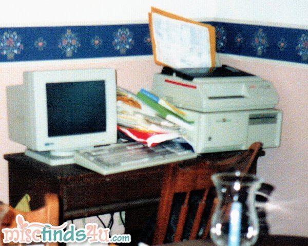 Home computer and dot matrix printer 1990