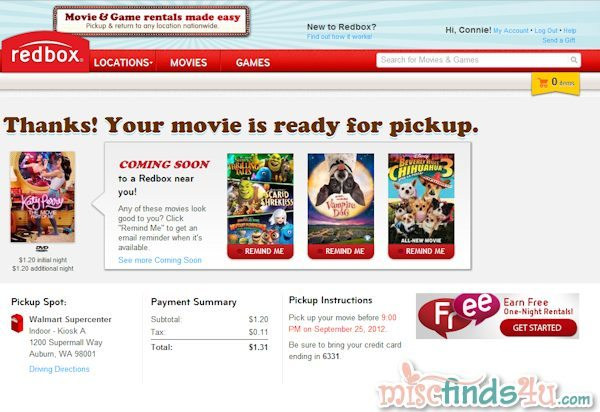 Register, reserve, and pay online before heading to the Redbox kiosk - so easy!