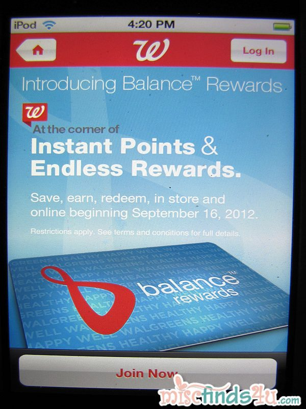 We joined the new Walgreens Balance Rewards Program