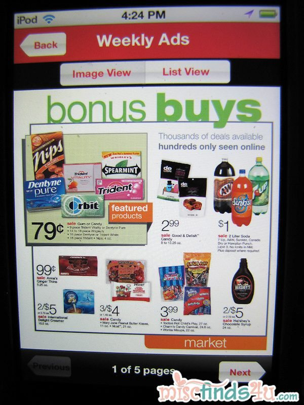 Weekly ads are easy to navigate and use to find best buys and specials.