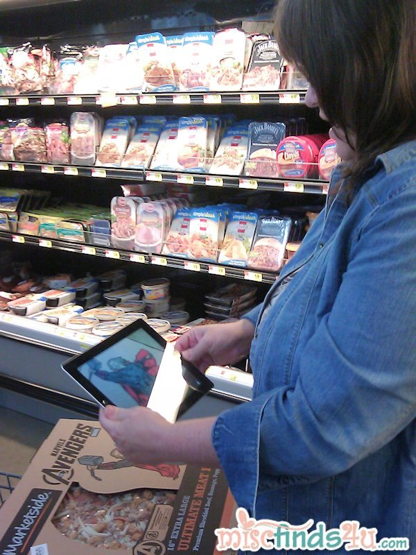 #cbias Specially marked Walmart MarketSide Pizza boxes have triggers for The Avengers Augmented Reality App