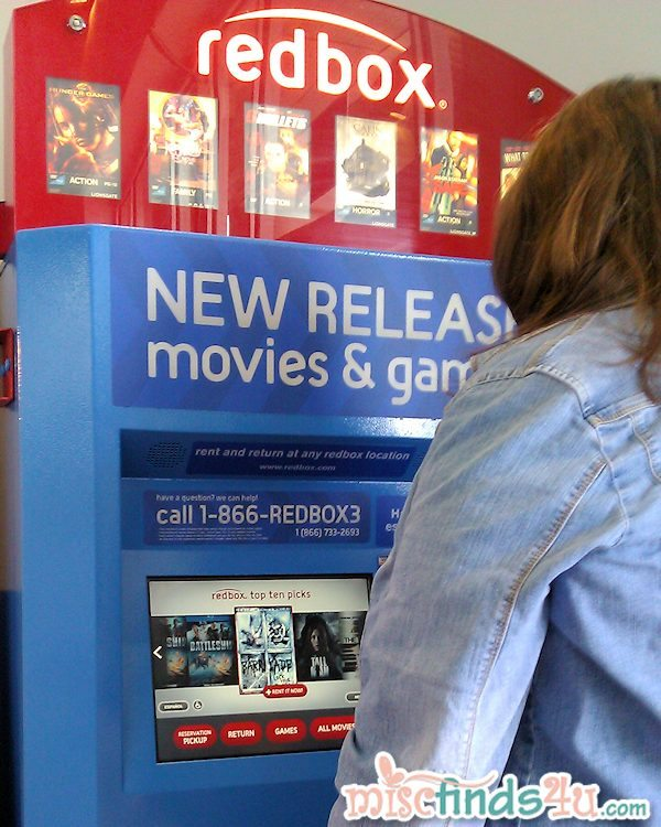 My first experience with renting from Redbox - so simple!