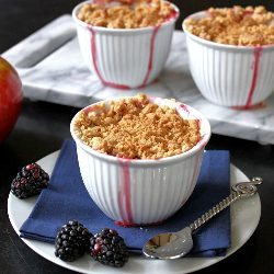 Apple Blackberry Crumble by Lea & Jay