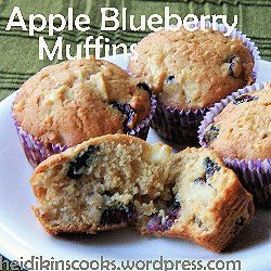 Apple-Blueberry Muffins by Heidikins Cooks