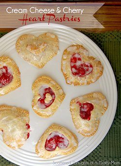 Cherry and Cream Cheese Hearts Recipe