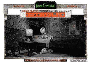 PRINTABLES: Free Disney FRANKENWEENIE Activity Sheets and Games
