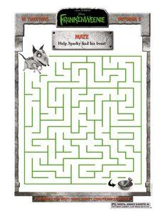 FRANKENWEENIE - Sparky Maze