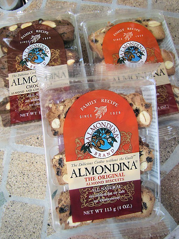 Some of the ALMONDINA cookies we tasted tested (note to self, take pictures BEFORE testing next time)