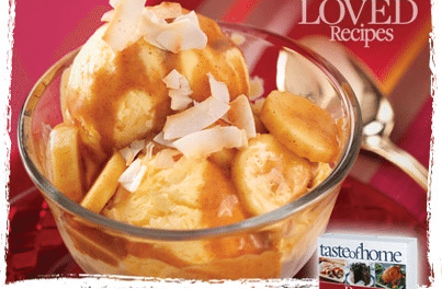 Banana Colada Ice Cream Sundaes Recipe from Taste of Home Cookbook