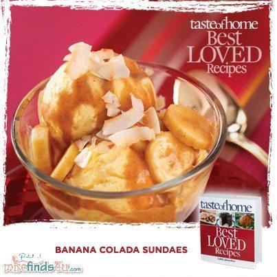 Banana Colada Ice Cream Sundaes Recipe from Taste of Home Cookbook